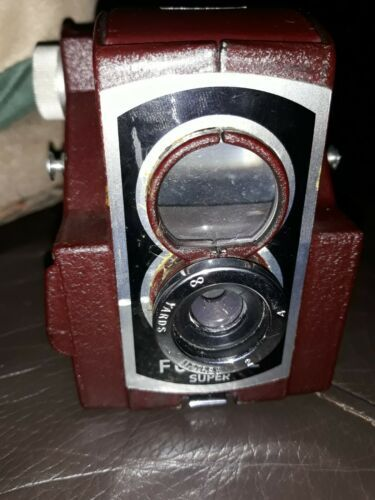 Houghton Ross  Ensign Ful-Vue Super (Maroon with Black Faceplate)