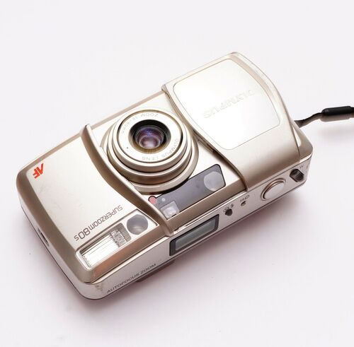 Olympus Super Zoom 80S- point and shoot 35mm compact camera-lomography